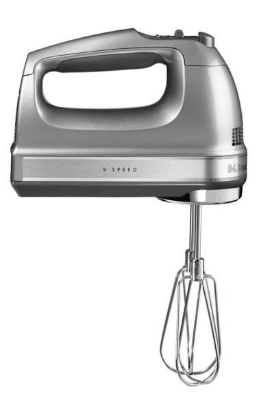 KITCHENAID 9 SPEED HAND MIXER CONTOUR SILVER