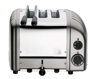 Dualit CLASSIC AWS COMBI 2+1 MET SILVER